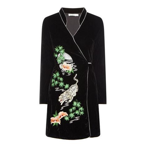 Iris Wrap Kimono Dress, ${color}