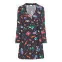 Eliza Planet Mini Wrap Dress, ${color}