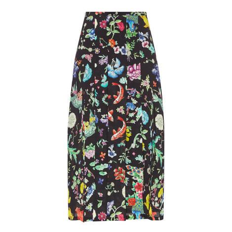 Georgia Porcelain Midi Skirt, ${color}