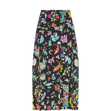 Georgia Porcelain Midi Skirt