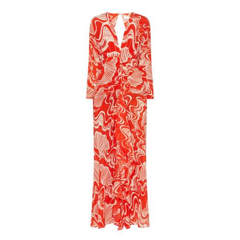 Shell Print Maxi Dress, ${color}