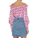 Off-Shoulder Floral Top, ${color}