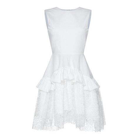 Sleeveless Lace Ruffle Dress, ${color}
