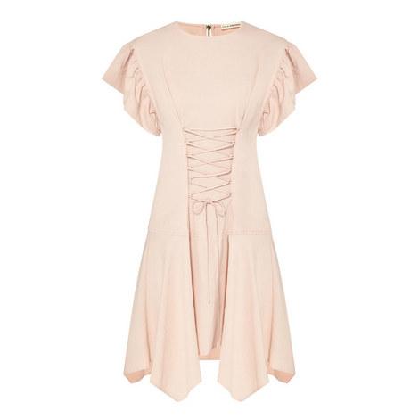 Otille Lace-Up Dress, ${color}