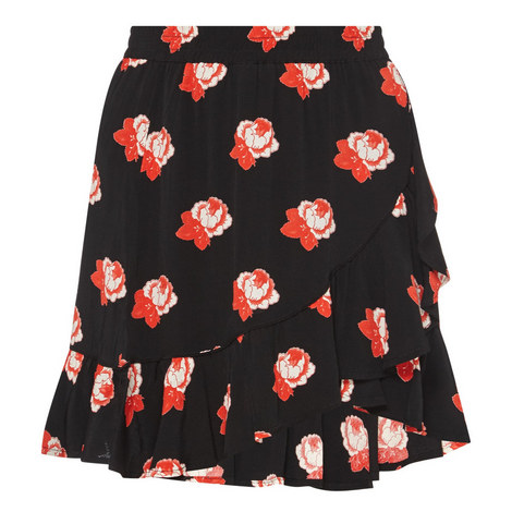 Harley Rose Print Skirt, ${color}