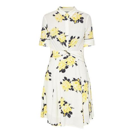 Crêpe Floral Dress, ${color}