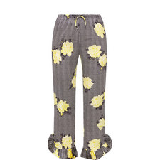 Calla Silk Printed Trousers