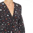 Nolana Silk Wrap Dress, ${color}