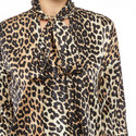 Calla Silk Leopard Print Blouse, ${color}