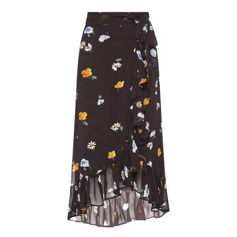 Dainty Georgette Wrap Skirt, ${color}