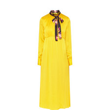 Long Sleeve Neck Tie Dress