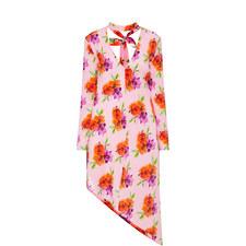 Floral Drape Asymmetric Tunic