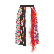 Printed Feather Skirt