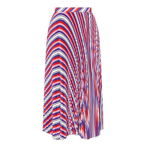 Striped Pleated Skirt, ${color}