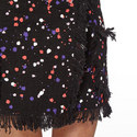 Tweed Spot Pattern Skirt , ${color}