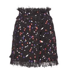 Tweed Spot Pattern Skirt