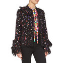 Tweed Splatter Print Jacket, ${color}