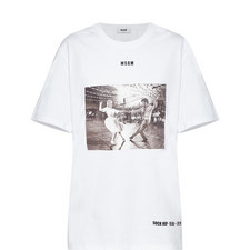 Printed Short Sleeve T-Shirt Dress