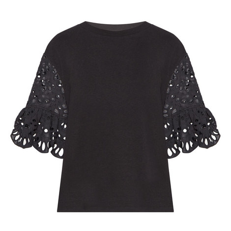 Lace Sleeve Top, ${color}