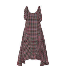 Plaid Asymmetrical Dress
