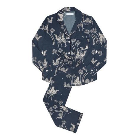 Camel Print Pyjama Set, ${color}