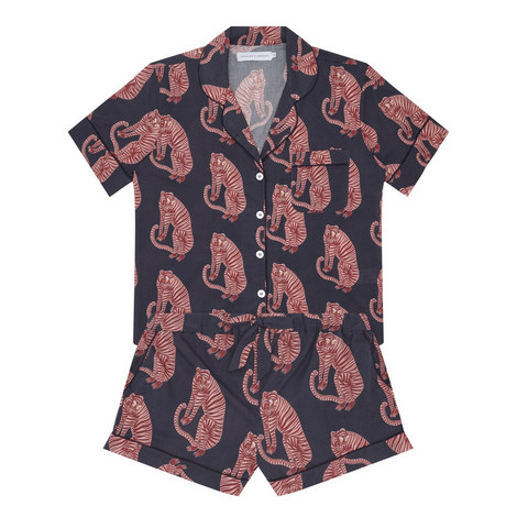 Short Tiger Print Pyjama Set, ${color}