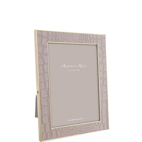 Faux Croc Leather Frame 4x6, ${color}