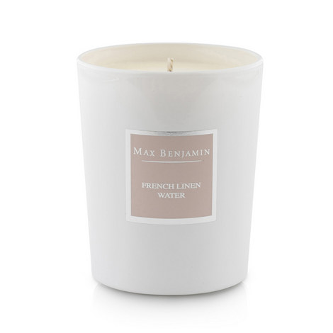 French Linen Water Scented Candle 40 Burning Hours, ${color}
