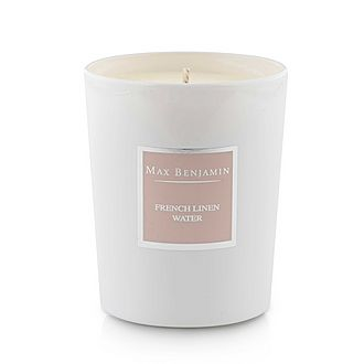 French Linen Water Scented Candle 40 Burning Hours