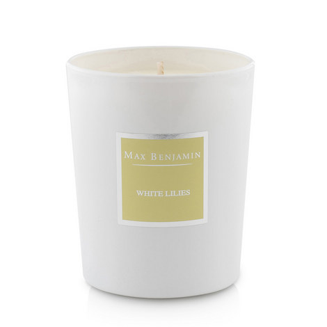 White Lilies Scented Candle 40 Burning Hours, ${color}
