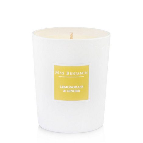 Lemongrass And Ginger Scented Candle 40 Burning Hours, ${color}