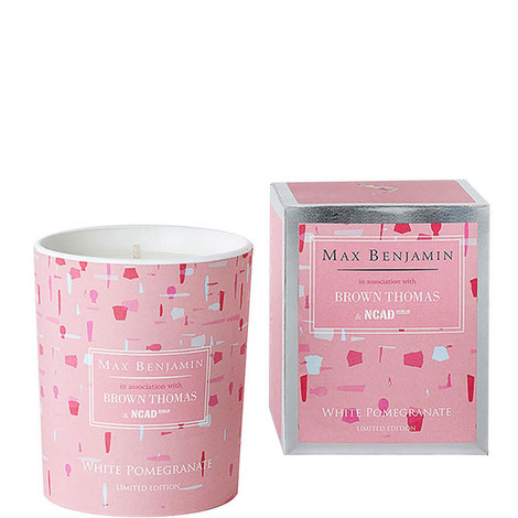 NCAD Limited Edition White Pomegranate Scented Candle, ${color}