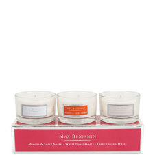 Floral Fragrance Mini Candles Set