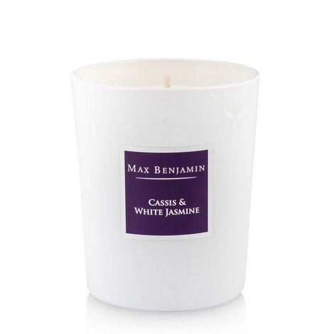 Cassis And White Jasmine Candle, 40 Burning Hours, ${color}