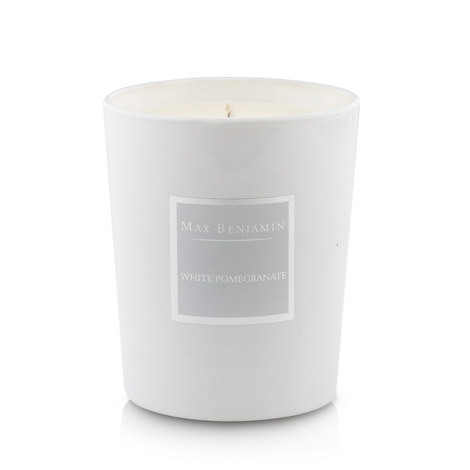 White Pomegranate Scented Candle, 40 Burning Hours, ${color}