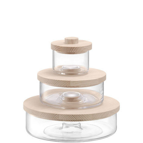 Container Trio with Ash Wood Lids, ${color}