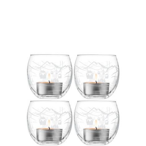 Set of 4 Alpine Tealight Holders, ${color}