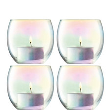 Pearl Tealight Holders Set of 4