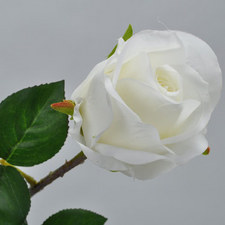 Rose Spray White 48cm