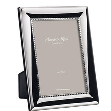 Silver Plated Bead Frame 8x10