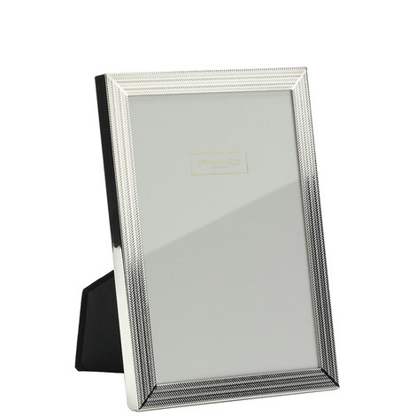 Herringbone Silver Plated Frame 4x6, ${color}