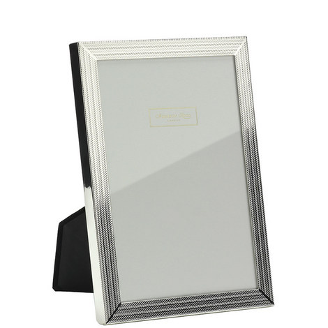 Herringbone Silver Plated Frame 5x7, ${color}
