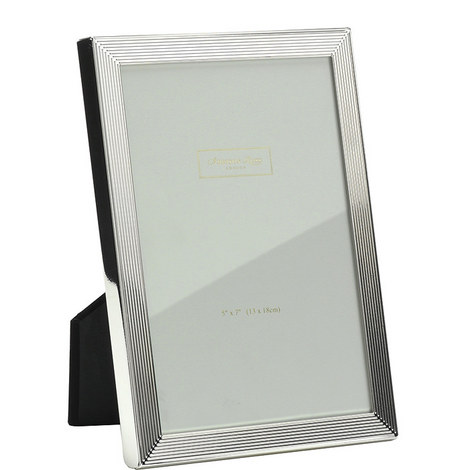 Herringbone Silver Plated Frame 8x10, ${color}