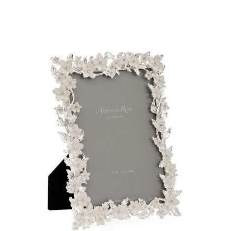Leaf and Flower Enamel Photo Frame 4 x 6, ${color}
