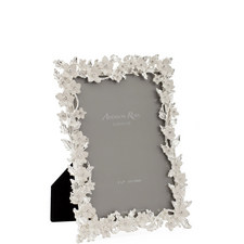 Leaf and Flower Enamel Photo Frame 4 x 6