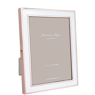 Rose Gold Enamel Frame 5x7