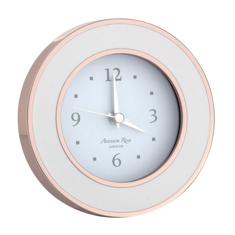 Rose Gold Enamel Alarm Clock, ${color}