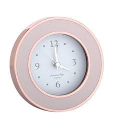 Rose Gold Enamel Alarm Clock