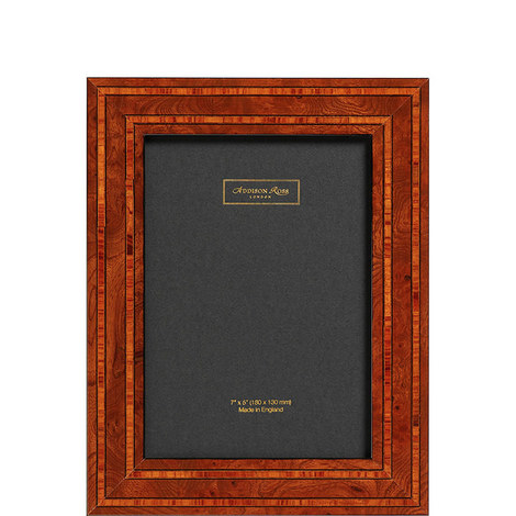 Double Contrast Marquetry Photo Frame 5 x 7, ${color}