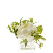 Peony Bundle in Glass Vase